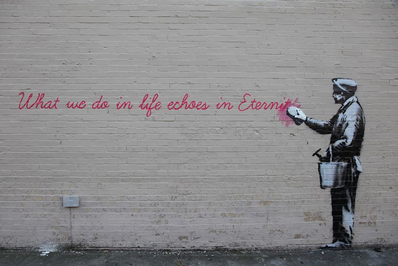 banksy: better out than in NYC street art