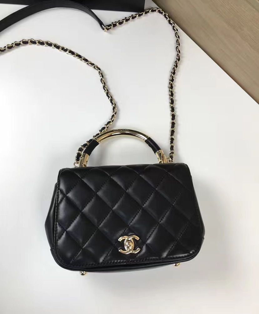Chanel Carry Chic Bag A93794 in Black. 2017 Chanel New Summer Collection  For Fashion Women. 9e1b98d7fe