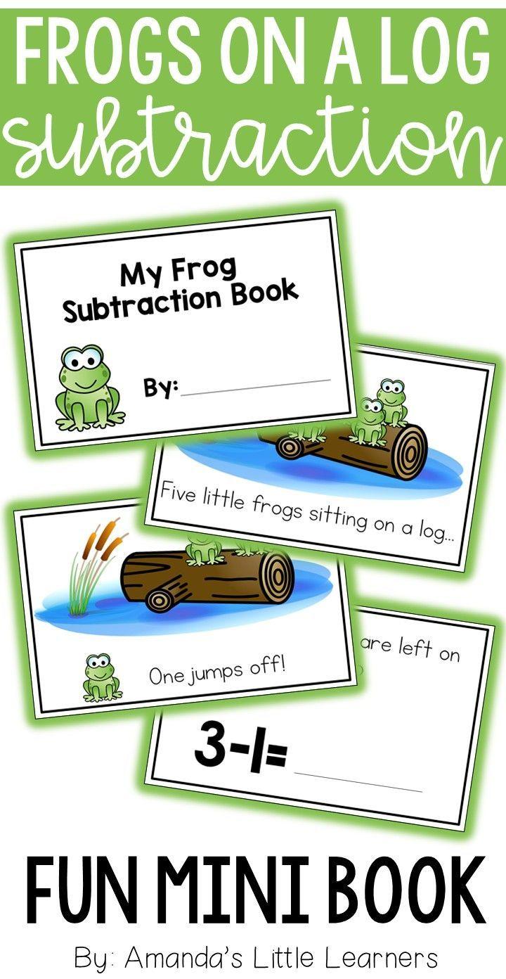 Subtraction Interactive Book - Frogs on a Log | Math, Kindergarten ...