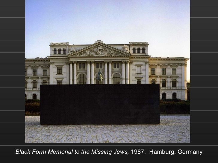 Black Form Memorial to the Missing Jews,  1987.  Hamburg, Germany, Sol LeWitt