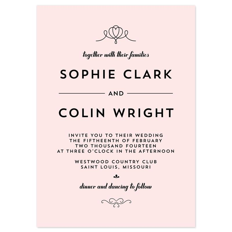 Classic Penmanship Wedding Invitations