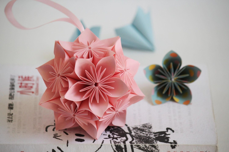 Origami Kusudama Origami Flower Ball Origami Cherry Blossom Ball