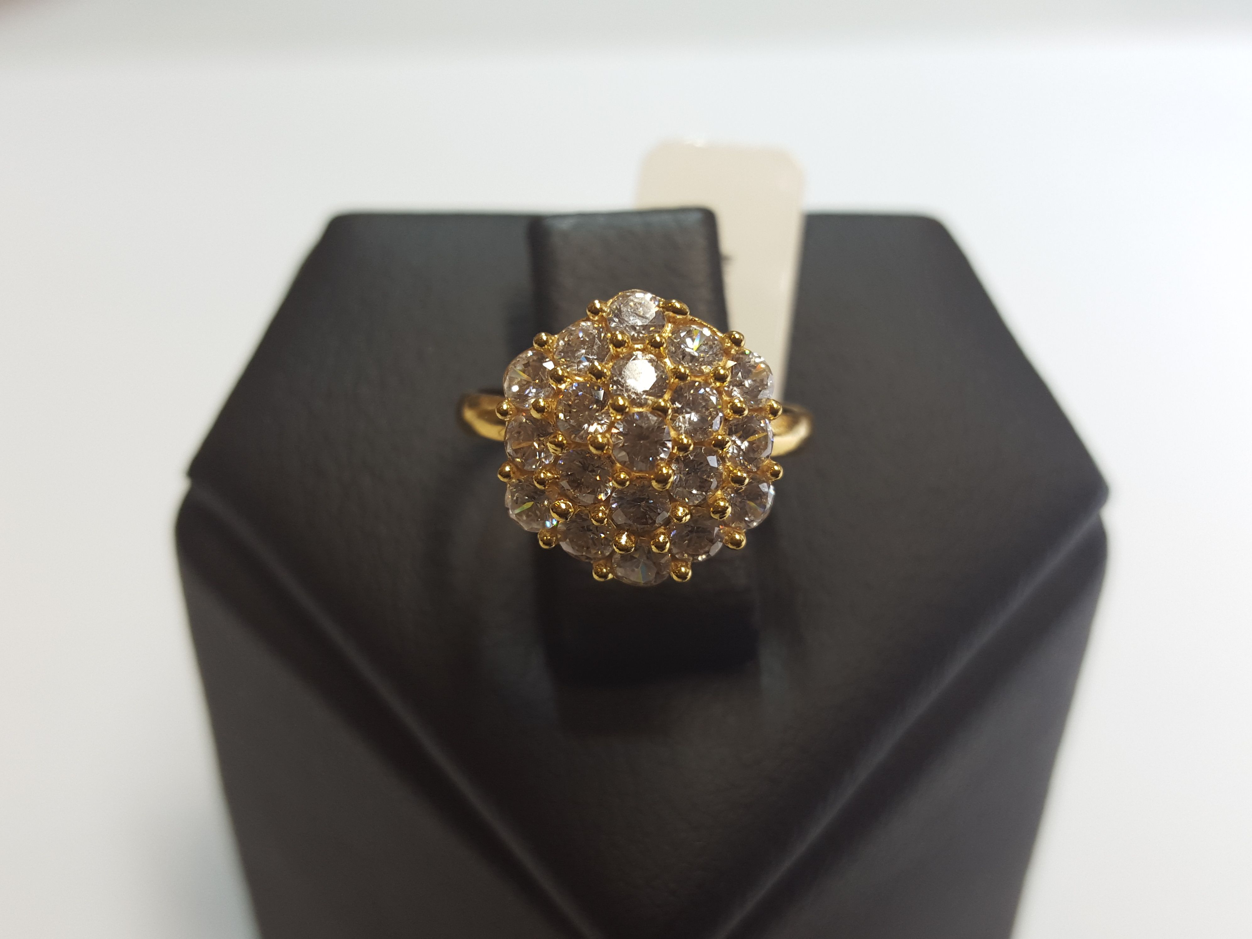 22ct Gold CZ Ring GR293 ABDs 22ct Gold Jewellery Collection