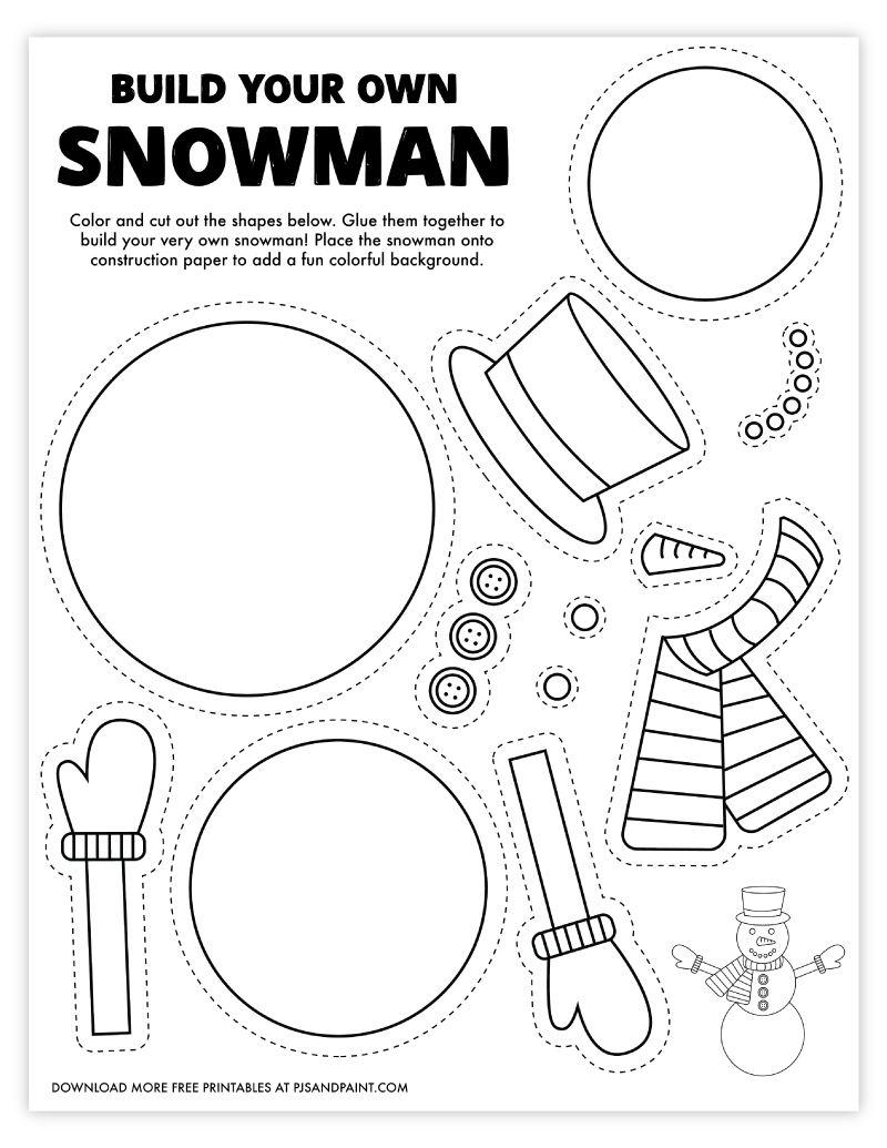 33++ Build a snowman printable trends