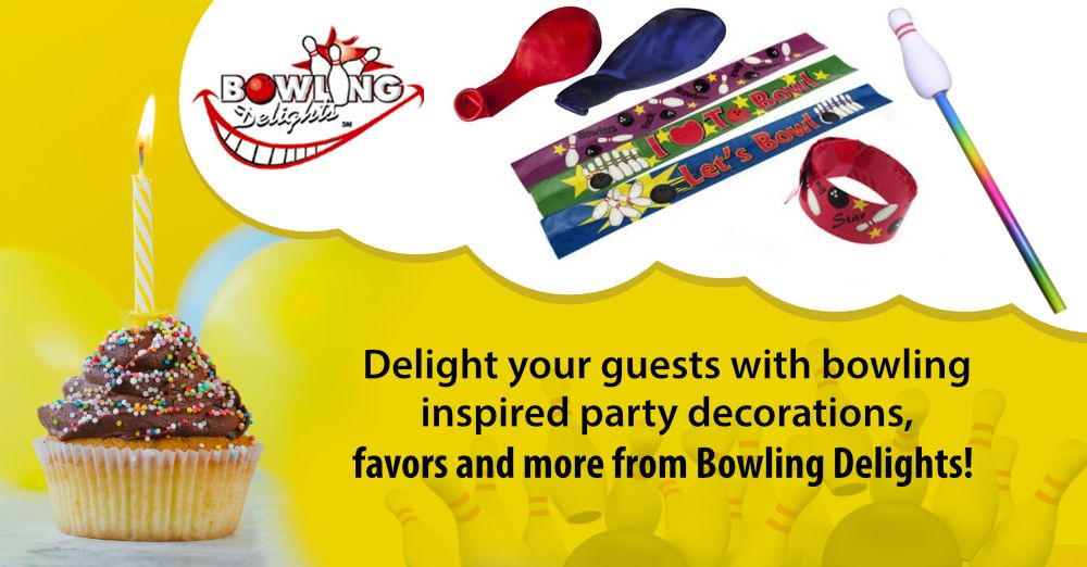 Delight Your Guests With Bowling Inspired Party Decorations Favors And More From Bowlingdelights Bowli Bowling Gifts Party Decorations Bowling Accessories