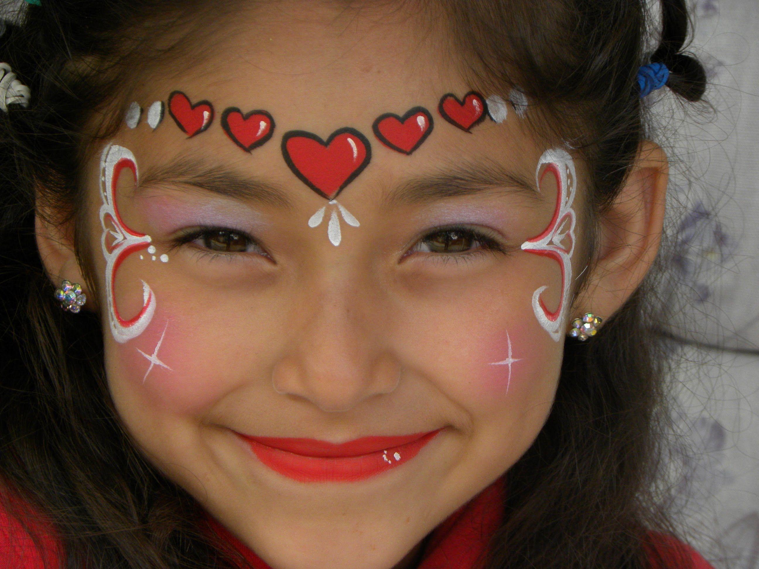 Princesa de corazones pintacaritas maquillajes - Pinturas de cara para ninos ...
