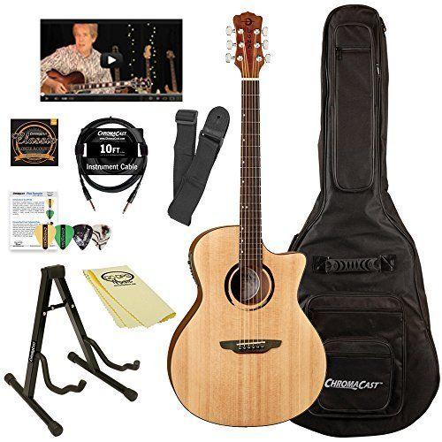 Luna Guitars Acoustic Electric Chromacast Accessories Luna Guitars Acoustic Electric Guitar