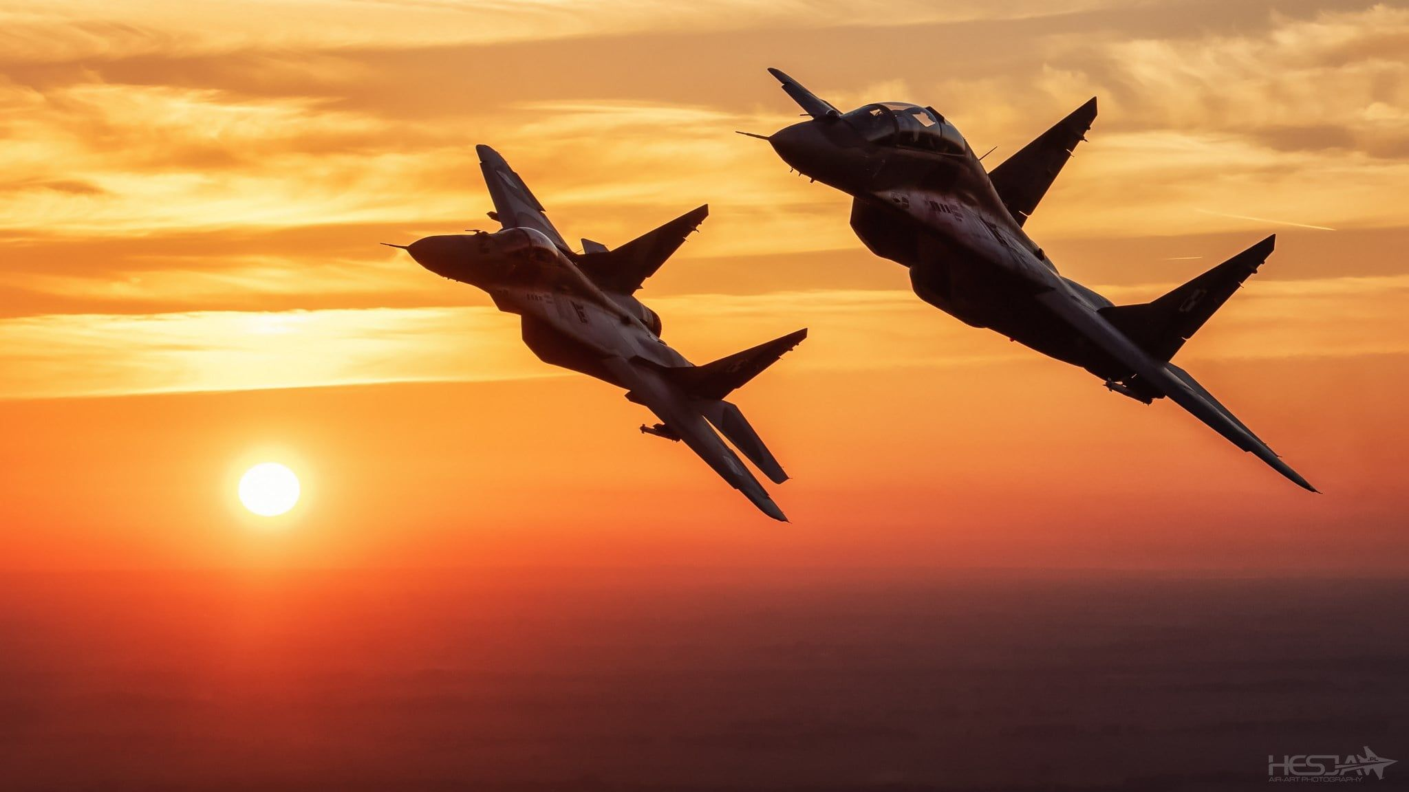 Sunset The Sky Clouds Fighter The Mig 29 Polish Air Force Hesja Air Art Photography 1080p Wallpaper Hdwallpaper D Mig Fighter Air Force Wallpaper Mig 29 29 full hd wallpaper hd