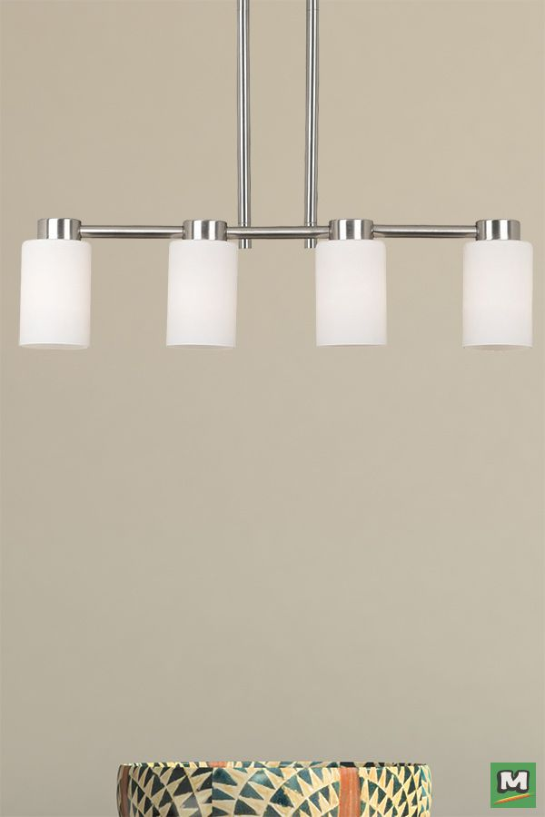 Hunter lighting cirrus island light with brushed nickel finish and hunter lighting cirrus island light with brushed nickel finish and white opal glass mozeypictures Gallery
