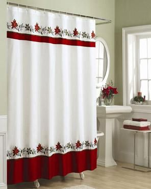 Holly Fabric Shower Curtain