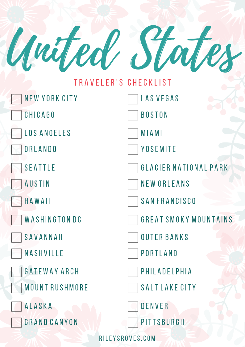 The Best Picture About travel to america checklist