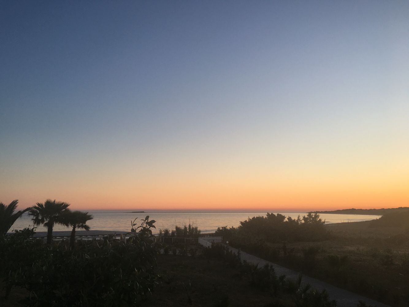 Sunset on the beach; Corfu, Greece