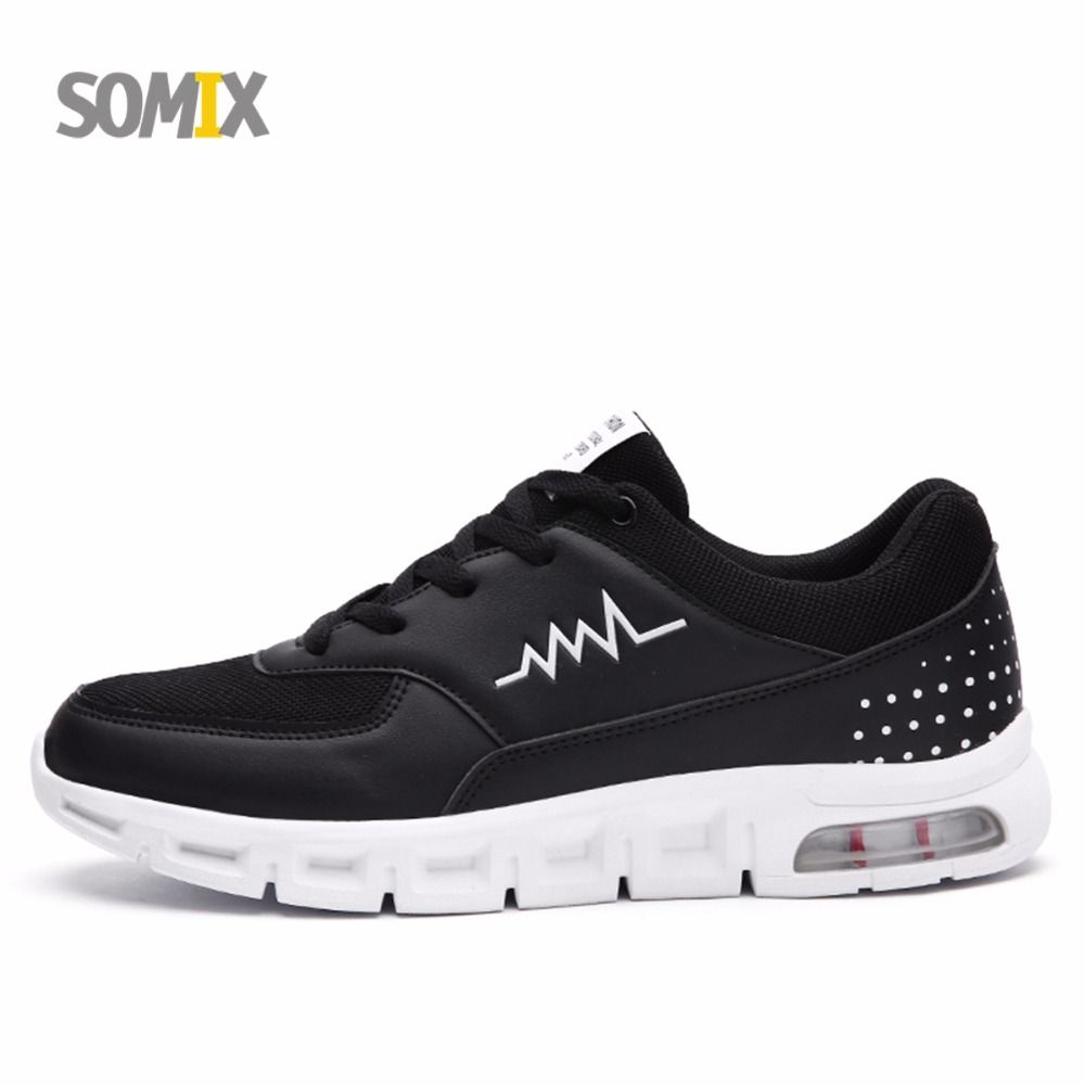 Somix Brand Men's Running Shoes Breathable Air Cushion