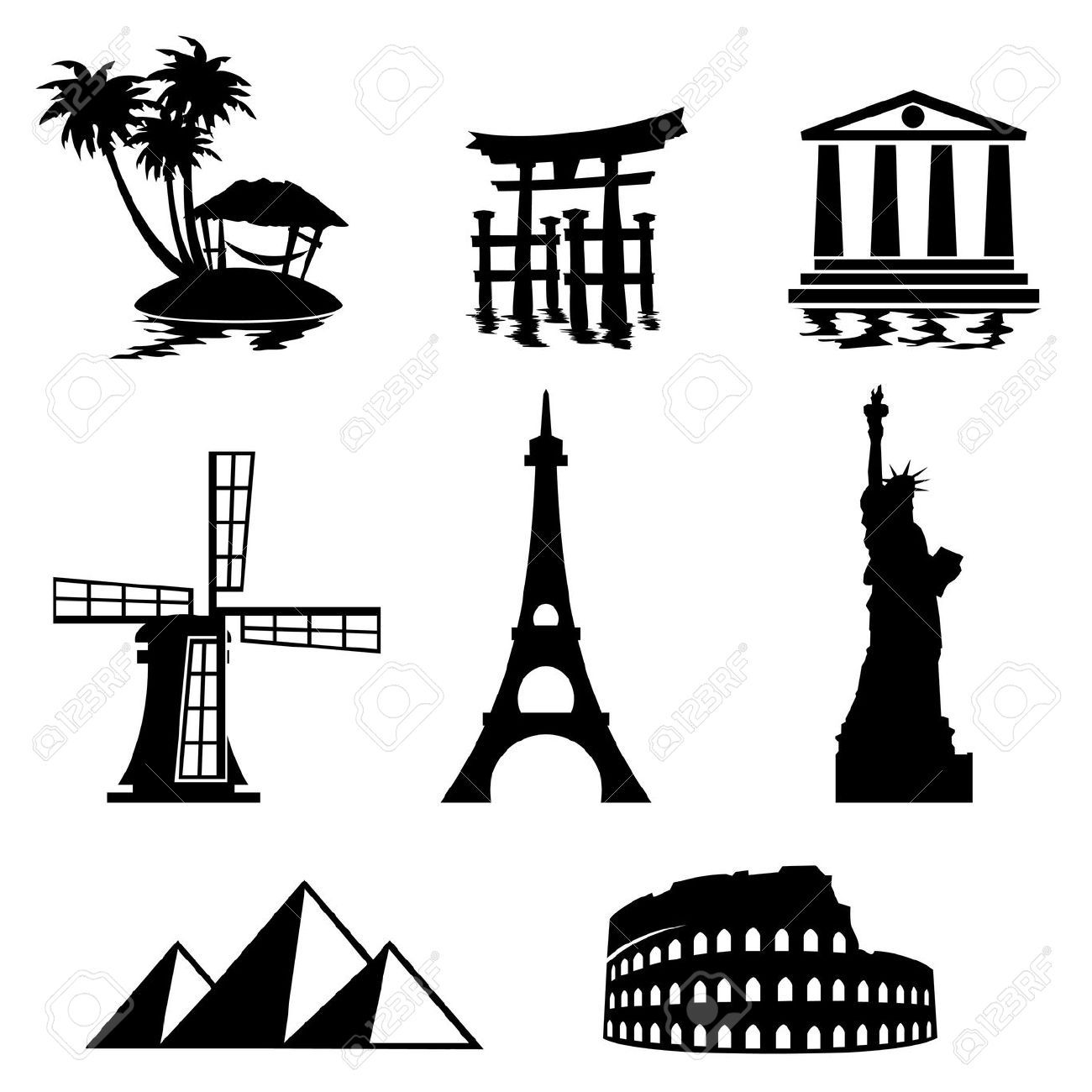 Black And White Vector Art That Represents World