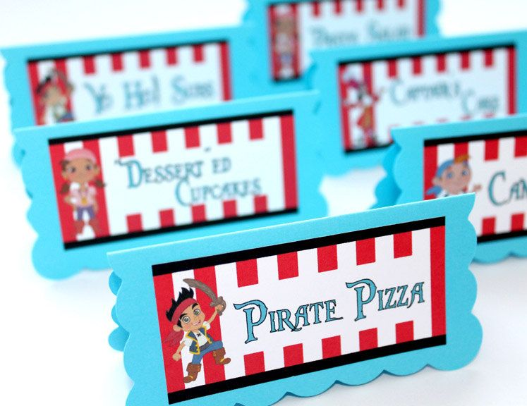 Jake and the Neverland Pirates Birthday Party - Food Table Tent Cards  sc 1 st  Pinterest & Jake and the Neverland Pirates Birthday Party - Food Table Tent ...