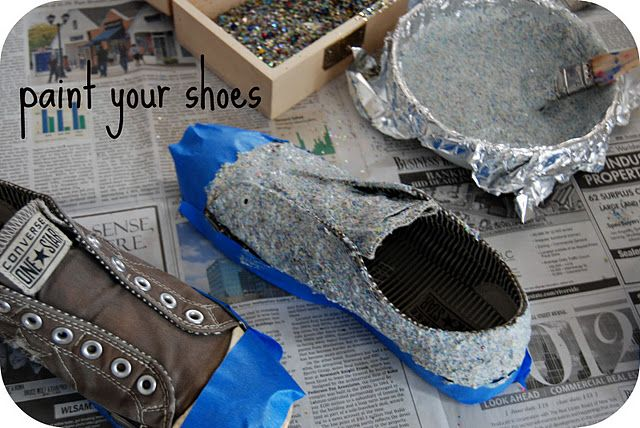 How to make your own glitter shoes:)  Coco is gonna love this!