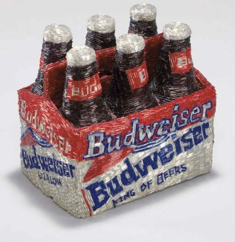 Liza Lou -- Beaded Budweiser