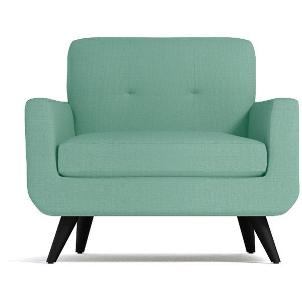 Apt2B Lawson Mint Green Chair ($988) ❤ Liked On Polyvore Featuring Home,  Furniture