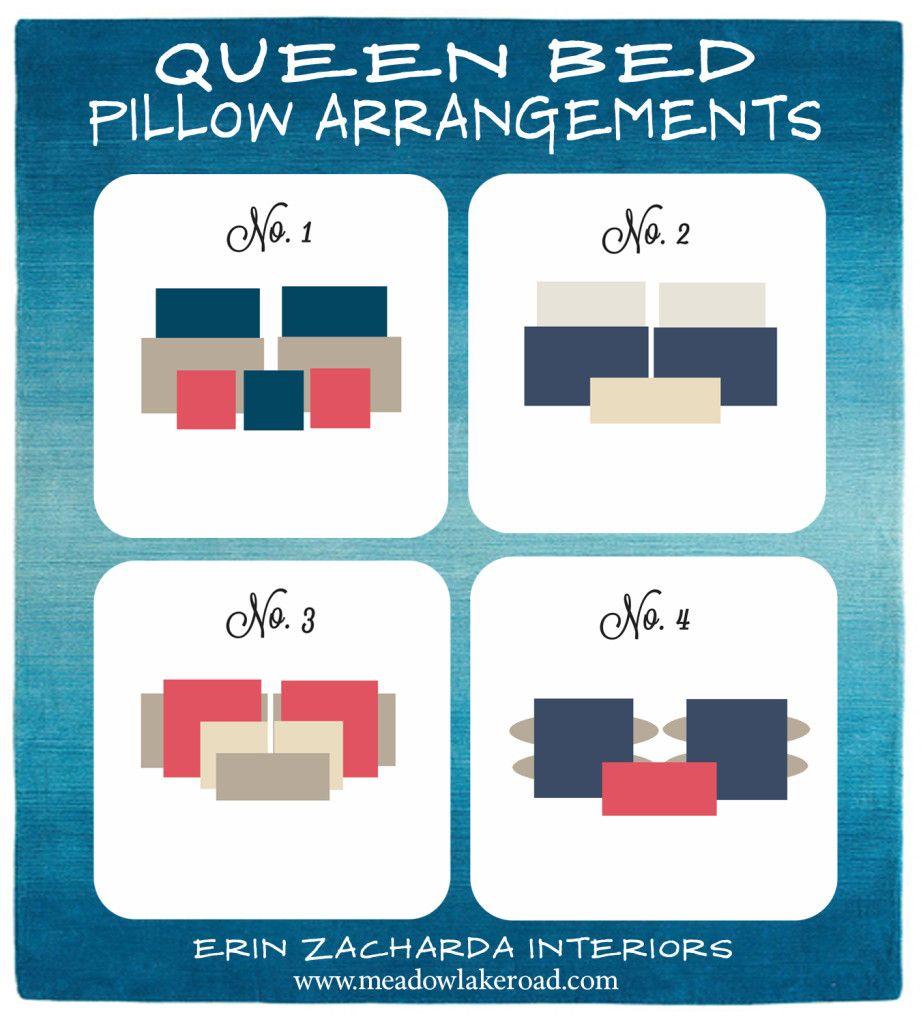 bed pillow arrangement ideas | pillow arrangement, queen beds and