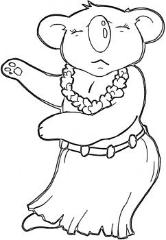 christmas in hawaii coloring pages hawaiian koala coloring page super coloring