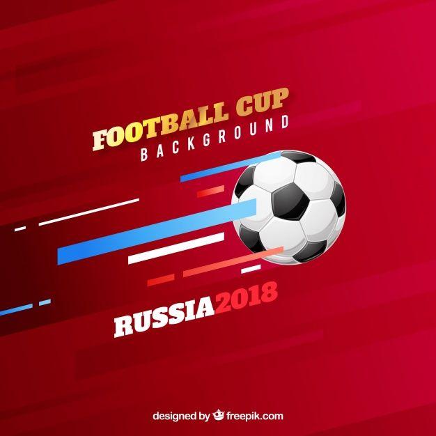 Fondo De Copa De Fútbol Con Balón Vector Gratuito
