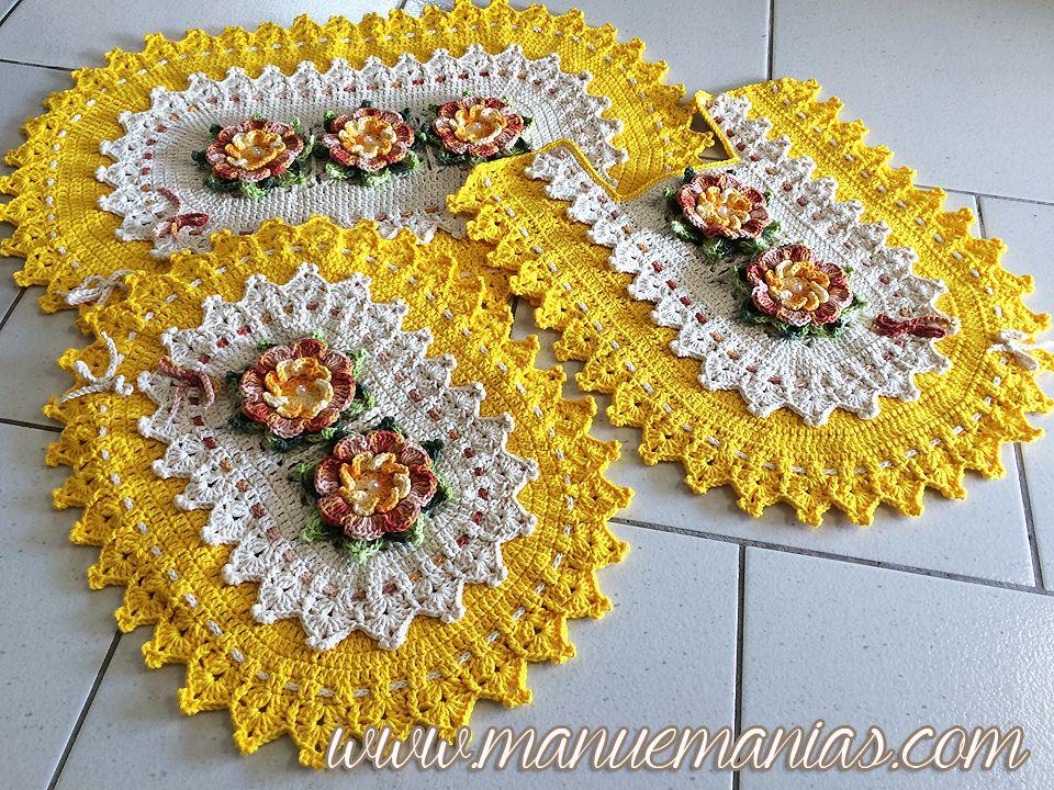 Jogo De Banheiro Amarelo Com Vermelho : Jogo de banheiro oval amarelo barroco tapete ou mesa
