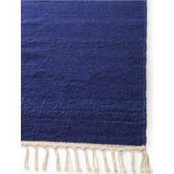 Photo of benuta Wollteppich Mala Blau 70×140 cm – Naturfaserteppich aus Wolle benuta
