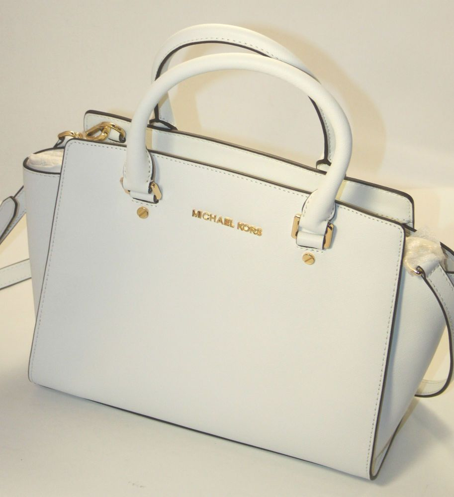 NWT MICHAEL KORS SELMA Saffiano Leather Md Tz Satchel