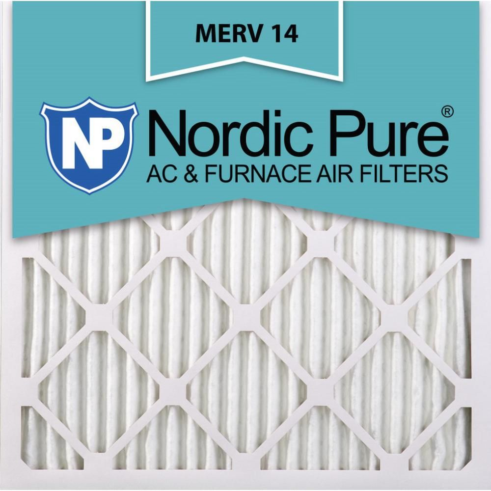 Nordic Pure 25 In X 25 In X 1 In Supreme Allergen Pleated Merv 14 Fpr 10 Air Filter 3 Pack In 2020 Pure Products Furnace Filters Air Filter