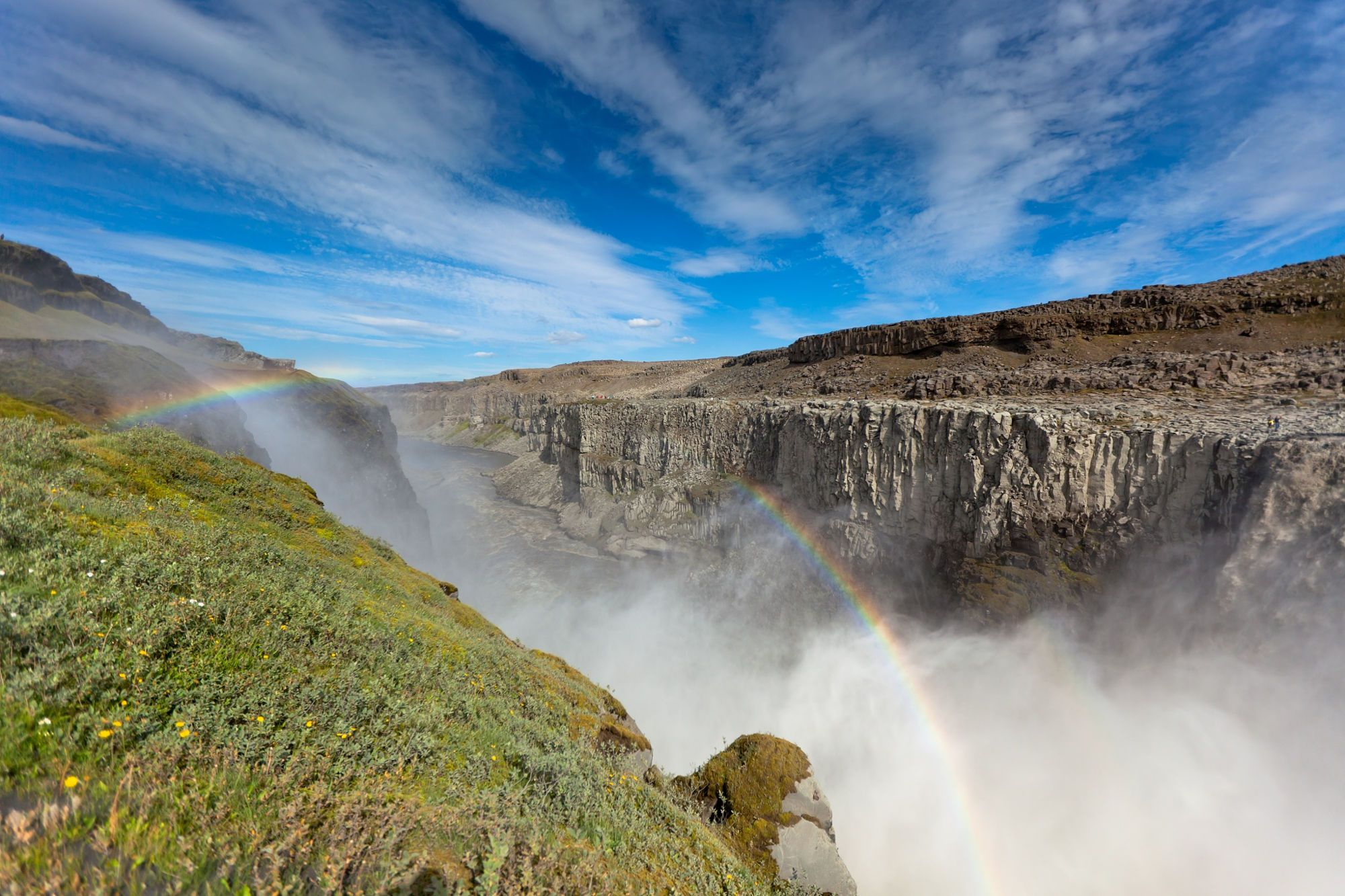 Dettifoss Waterfall in Iceland under a blue summer sky by dvoevnore . on 500px