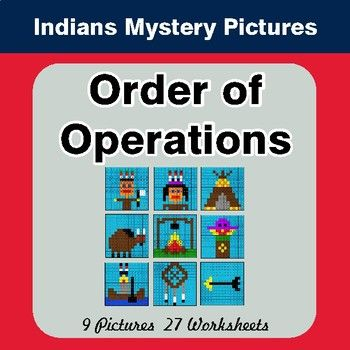 Order of Operations - Color-By-Number Mystery Pictures | Math and ...