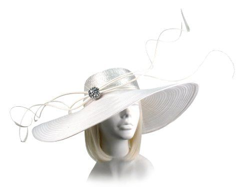 Wide Brim Hat With Curled Feathers M41 Mr Song Millinery Online Shopping Click On Amazon Here Http Www Amazon Derby Hats Wide Brim Hat Hats For Big Heads