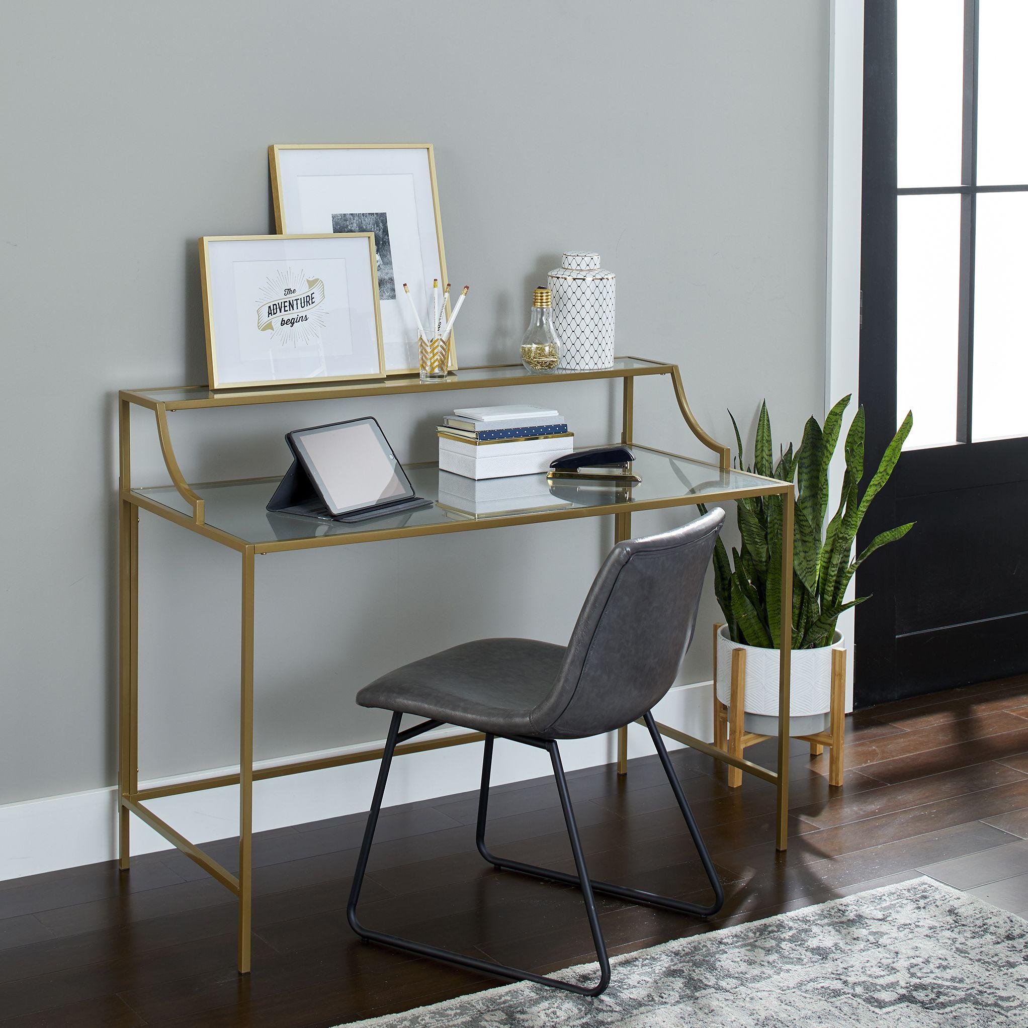 Better Homes Gardens Nola Writing Desk Gold Finish Walmart Com In 2020 Home Decor Vases Home Decor Decor