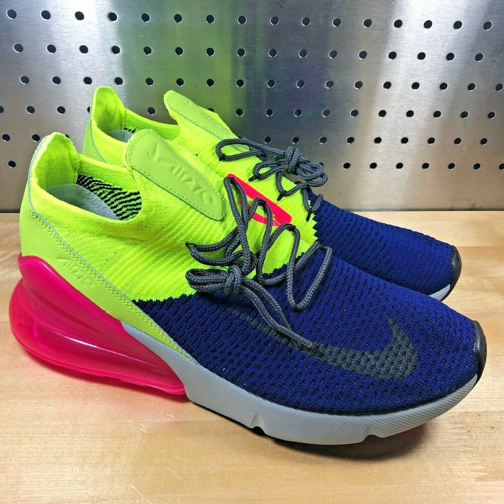 lowest price af900 91499 New Nike Air Max 270 Flyknit Regency Purple Grey Volt AO1023-501 Men s Size  9.5  fashion  clothing  shoes  accessories  mensshoes  athleticshoes (ebay  link)