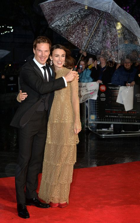 Benedict Cumberbatch and Kiera Knightley at the London premiere of The Imitation Game. Oct. 8, 2014.