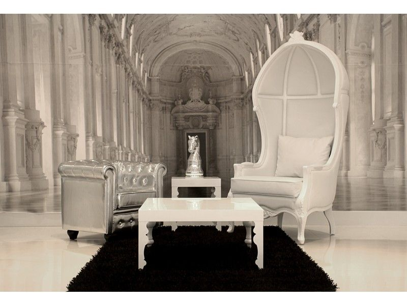modern and contemporary white baroque enzo armchairs ...