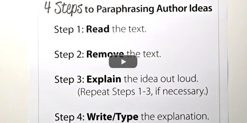 Pin On Informative Expository Explanatory Writing How To Signal Begining Of Paraphrase