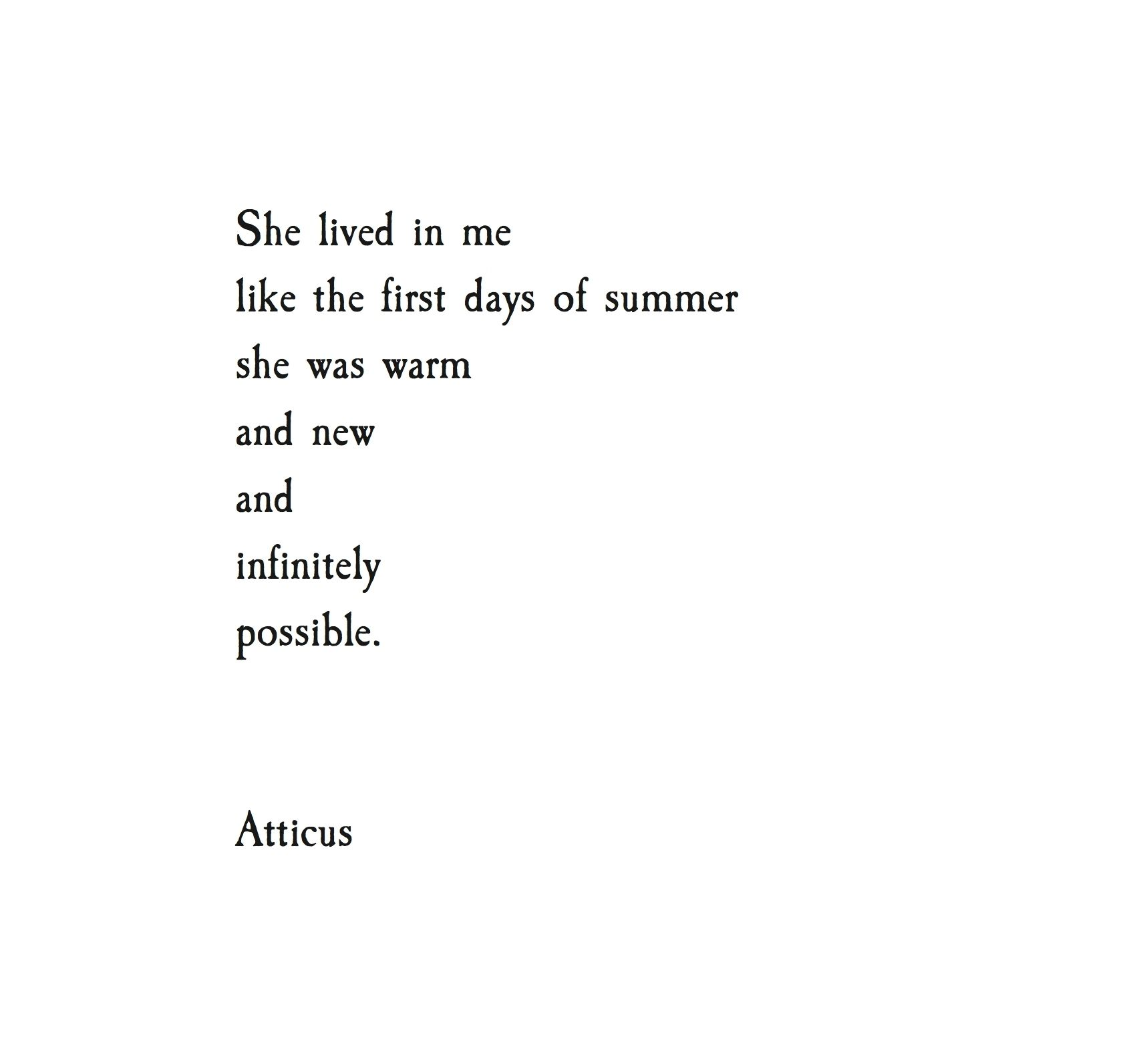 Infinitely Possible Atticuspoetry Atticus Loveherwild Quotes