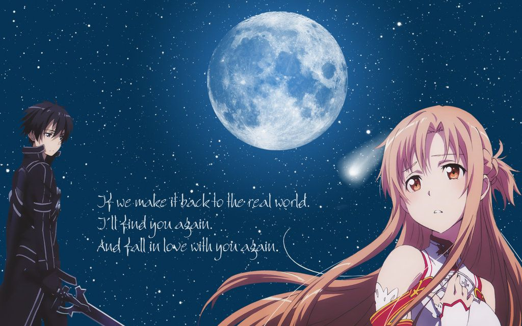 Sword Art Online Kirito-Asuna Wallpaper by Yugoku-chan.deviantart.com on @deviantART