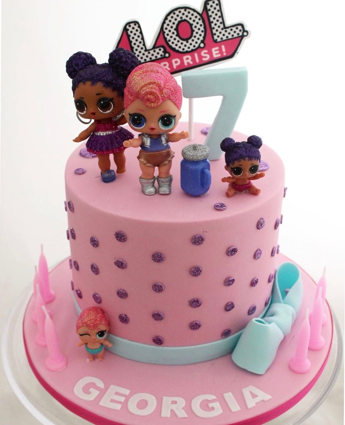Lol Surprise Birthday Cake Doll Birthday Cake Funny Birthday Cakes Birthday Cake Kids