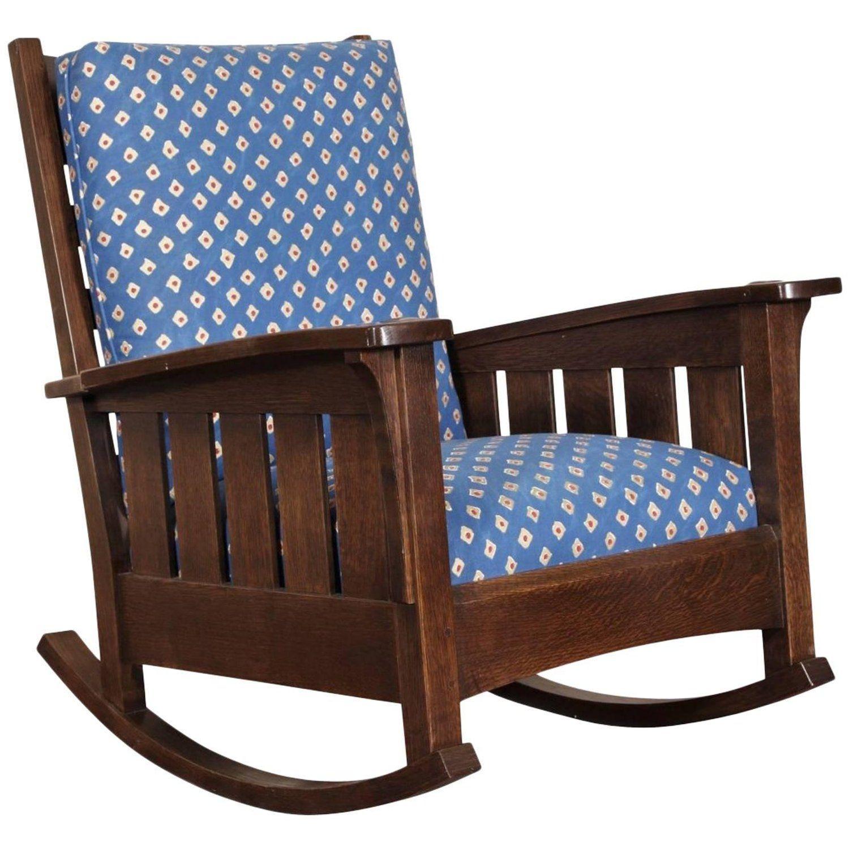Stickley Quarter Sawn Rocker Vintage chairs, Chair