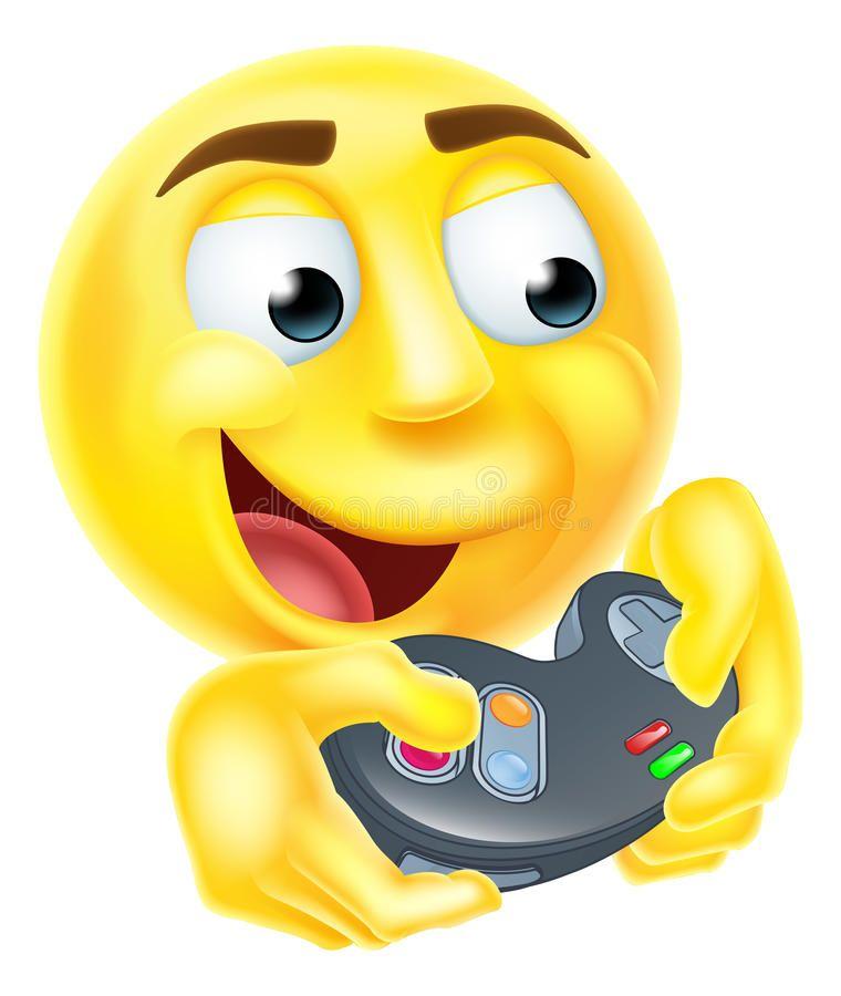 Gamer Emoji Emoticon A Gamer Cartoon Emoji Emoticon Smiley Face Character Holding A Video Games Controller Playin In 2020 Funny Emoticons Cartoon Smiley Face Emoticon