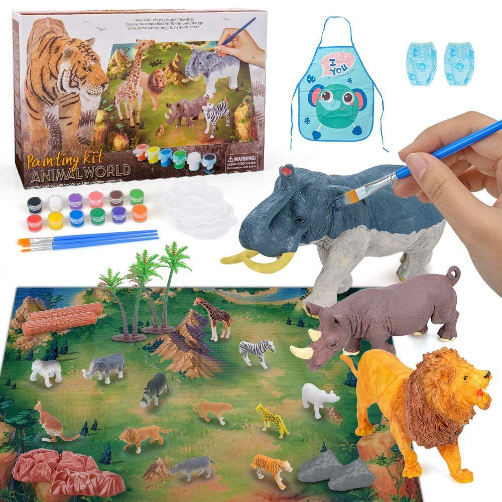 Regalo De Juguetes Para Niños De 3 5 Años Suministros De Manualidades Y Manualidades Para Niños Pequeños Figuras De Animales Pinturas Para Niñas Manualidades