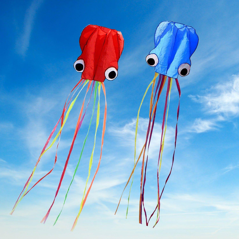 SINGARE Octopus Kite Long Tail Beautiful Easy Flyer Kites