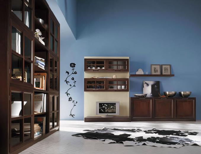 Camera Da Letto Blu Balena : Il marrone dei mobili su una parete blu balena i colori nell