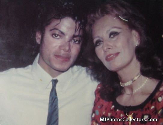 Michael Jackson and Sophia Loren