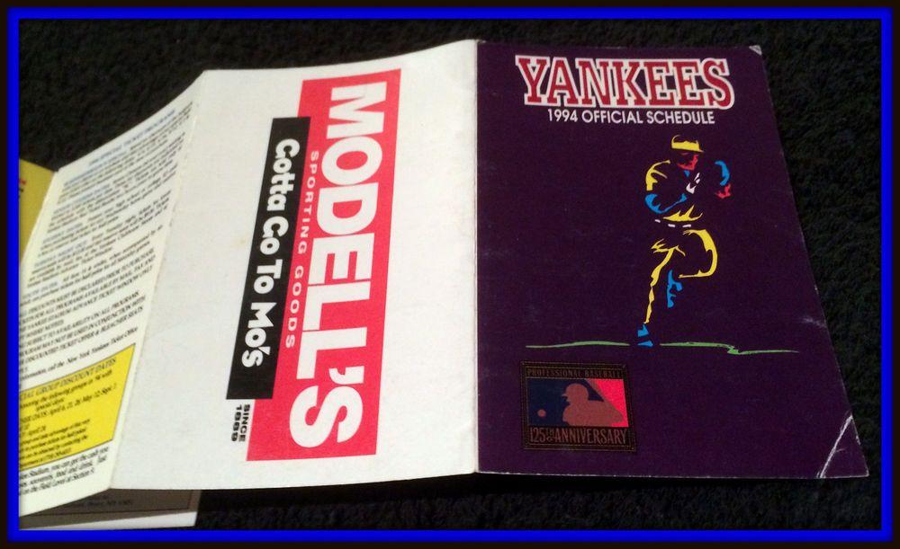 1994 NEW YORK YANKEES MODELLS SPORTING GOODS BASEBALL