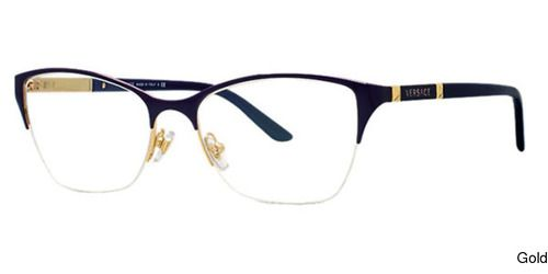 5d5a4f7bc467 Buy Versace VE1218 Semi Rimless / Half Frame Prescription Eyeglasses ...