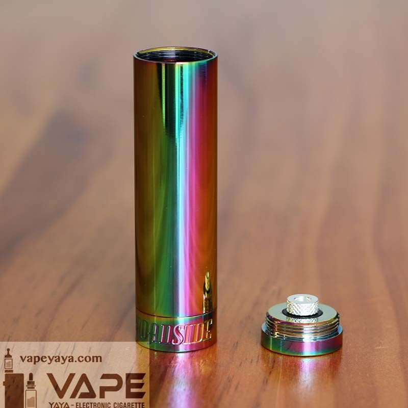 Broadside Style 18650 Mechanical Mod - Bright Polished Rainbow