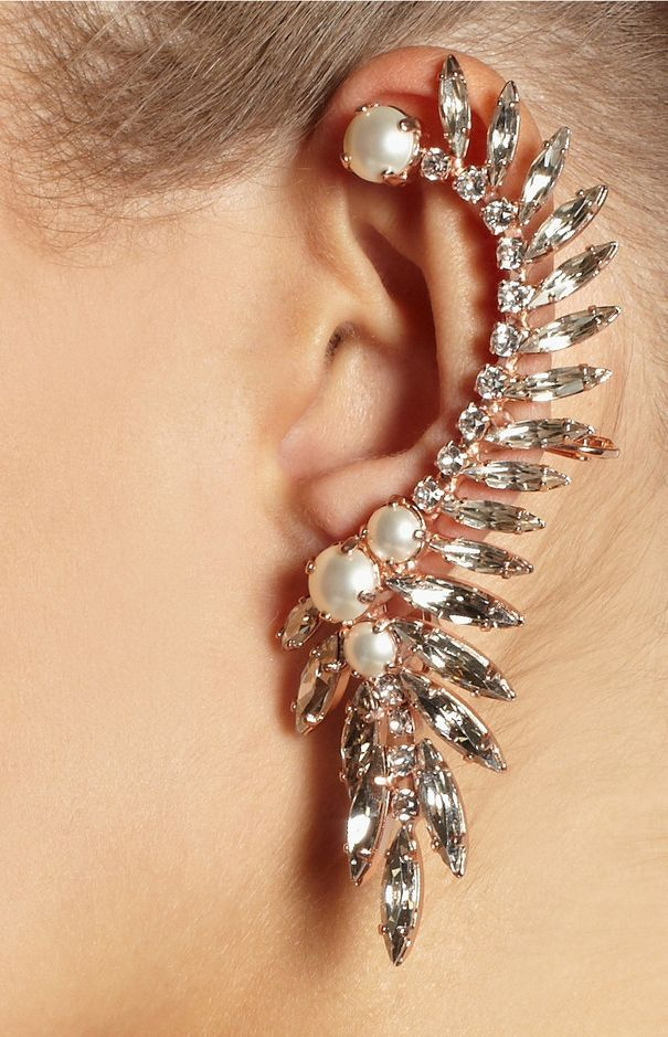 Clip Earrings 2017 Hot Selling 2 Color Ctystal Moon And Star Ear Cuff Earrings For Women Fine Jewelry Making Things Convenient For Customers Earrings